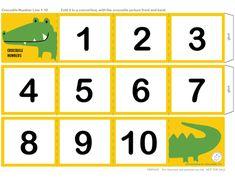 recta numérica imprimible 1-10