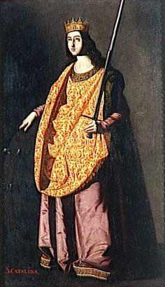 St. Catherine of Alexandria by @artistzurbaran #baroque