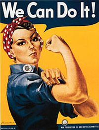 Rosie the Riveter    #WWII #1940 #military