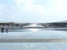 Jean Nouvel's design for the National Art Museum of China (NAMOC): The rooftop is glass-floored to allow light into the spaces beneath