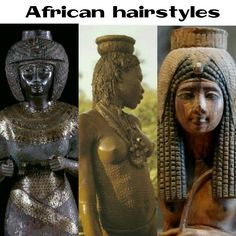 African hairstyles are thousands of years old. Ancient Aliens, Ancient Egypt, Ancient History, Kemet Egypt, Egyptian Pharaohs, Luxor Egypt, Egypt Crafts, Art Afro, Egypt Tattoo