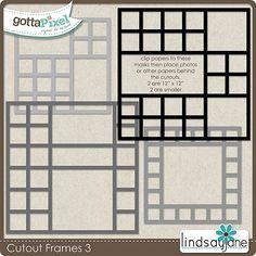 Cutout Frames 3 :: Gotta Pixel Digital Scrapbook Store $2.00