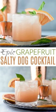 An Epic Grapefruit Salty Dog Cocktail Recipe that'll be the envy of summer! This refreshing salty dog is a mix of fresh grapefruit juice, vodka, sparkling water with a hint of lime. A summer drink that is light, easy and down right tasty! Refreshing Cocktails, Easy Cocktails, Summer Drinks, Cocktail Drinks, Fun Drinks, Healthy Drinks, Easy Vodka Drinks, Nutrition Drinks, Beverages