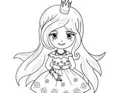 Dibujo de Princesa primavera para colorear