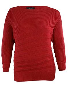 cc76152fbe Alfani Womens Metallic Flecked Rib Knit Sweater M Red   Learn more by  visiting the image
