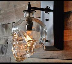 Skull porch light