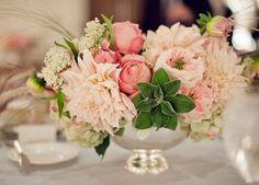 Pink and green arrangement