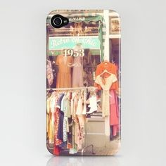 Vintage Shop, iPhone Case  Protect for your iPhone with a one-piece, impact resistant, flexible plastic hard case featuring an extremely slim profile. Simply snap the case onto your iPhone for solid protection and direct access to all device features.