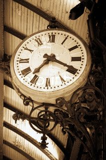 Old railway station clock