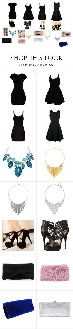 """Party Hard"" by malaysiasmith21 on Polyvore featuring WithChic, Emporio Armani, BERRICLE, Swarovski, Anatomy Of, Michael Antonio, Reiss, Mr & Mrs Italy and Jimmy Choo"