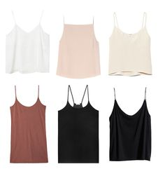The thin-strap tank / Elin Kling Neutral Crop Tops, Milan Fashion Weeks, London Fashion, Basic Tops, T Shirt And Jeans, College Fashion, Mode Inspiration, What To Wear, Casual Outfits