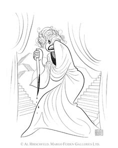 'carol channing as lady macbeth' by al hirschfeld
