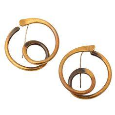 Earrings | Art Smith. Brass. 1950s.