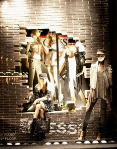 GUESS Window Displays, Florence & Milan, Italy