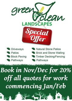 Thinking of having work done in 2016? Take advantage of this huge offer! 20% off all quotes for bookings in Nov & Dec for work commencing in Jan & Feb.