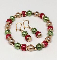 colorful pearl bead jewelry set Source by Jewelry Real Pearl Necklace, Pearl Jewelry, Crystal Jewelry, Beaded Jewelry, Jewelery, Handmade Jewelry, Beaded Bracelets, Beaded Earrings, Jewelry Design Earrings