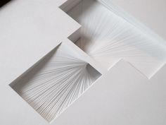letter paper sculpture