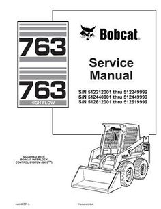 Bobcat 753, 753H Skid-Steer Loader Service Manual