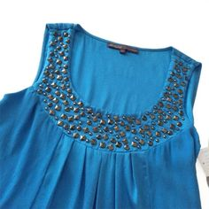 hale bob • studded silk top Gorgeous sleeveless, studded silk top. Ties in the back. New with tags. 94% silk/6% spandex. Hale Bob Tops