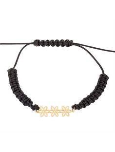 Βραχιόλι με Κορδόνι και Χρυσό 14Κ Αναφορά 023359 Ένα όμορφο βραχιόλι που αποτελείται από ένα μενταγιόν Χρυσό 14Κ σε κίτρινο χρώμα σε ένα όμορφα πλεγμένο μάυρο κορδόνι μακραμέ. Beaded Necklace, Jewelry, Fashion, Beaded Collar, Moda, Jewlery, Pearl Necklace, Jewerly, Fashion Styles