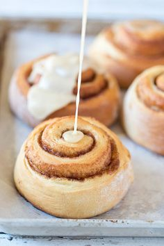 These Maple Glazed Cinnamon Rolls are light, fluffy and filled with ...