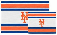 """MLB New York Mets Glass Cutting Board by The Memory Company. $19.99. Lg 12"""" tall by 18"""" wide/ Sm 8"""" tall by 12"""" wide.. Crafted in shatter-resistant glass.. Embellished with team colors and logo.. This elegant set of two glass cutting boards displays your favorite team's logo and colors  It is crafted in shatter-resistant glass  Designed for fun and function at party time or anytime  Microwave and Dishwasher safe  Sizes are 12""""H x 18""""W and 8""""H x 12""""W"""