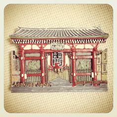 2014年、浅草寺に行った時に購入しました。出店にはたくさんのマグネットが置いてあって数年前に行った時に比べると色々選べて楽しかったです。ついにマグネットブームがやってきたっぽい!?