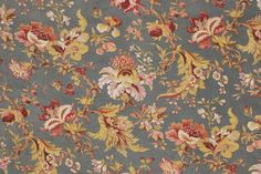 Gorgeous 19th century French printed fabric ~ Lovely Indienne design ~ gorgeous for any period interior ~ www.textiletrunk.com
