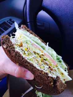My favorite sandwich place in Tucson is Baggins Gourmet Sandwiches. Love the veggie. Eating on the run before a TV interview.