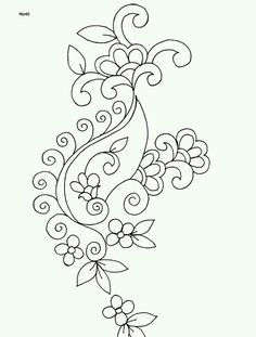 Embroidery Pattern from Indian Motifs Textile Pattern, Sarika Agarwal Textile Designs Indian Motifs Dynamic Textile Patterns, Textile Guide Indore India. Jacobean Embroidery, Tambour Embroidery, Embroidery Motifs, Indian Embroidery, Embroidery Applique, Machine Embroidery, Hand Embroidery Design Patterns, Textile Patterns, Embroidery Ideas