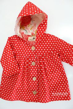 Adorable baby/toddler jacket/raincoat pattern from ithinksew
