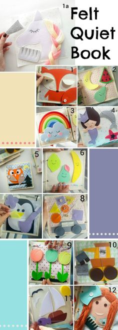 Felt Quiet Book #baby #toddler #preschoolers #quietbook #affiliate