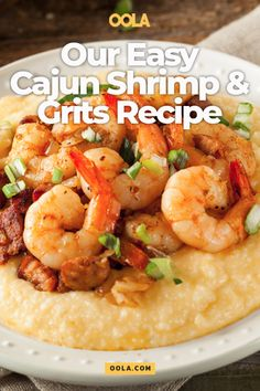 Our Easy Cajun Shrimp And Grits Recipe - - Cajun shrimp and grits is a southern dish that many locals and tourists love. Get a taste of The Big Easy right at home with this easy cajun shrimp and grits recipe. Easy Shrimp And Grits, Southern Shrimp And Grits, Charleston Shrimp And Grits Recipe, Louisiana Chicken Pasta, Cajun Dishes, Shrimp Dishes, Cajun Shrimp Recipes, Seafood Recipes, Easy Cajun Recipes
