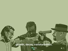 Breaking Bad Growth Decay Transformation designed by Nick Spanos. Breaking Bad 3, Breaking Bad Series, Breaking Bad Poster, Bad Fan Art, Growth And Decay, Bad Image, Call Saul, Memes, Movie Tv