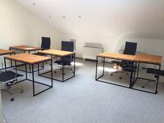 Офисные столы от Woodme #офисная_мебель #лофт #киев
