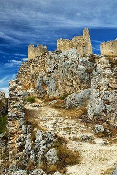 Medieval Castle. Castel del Monte, Abruzzo, Italy