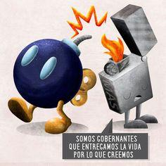 Es triste cuando se miente tanto que uno crea sus propias mentiras. #illustration #Bolivia