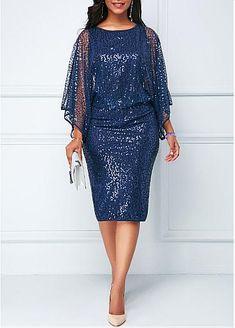 Batwing Sleeve Back Slit Sheath Dress. Batwing Sleeve Back Slit Sheath Dress. Women's Dresses, Dresses For Sale, Evening Dresses, Bride Dresses, Dresses Online, African Fashion Dresses, African Dress, Fashion Outfits, Dress Fashion