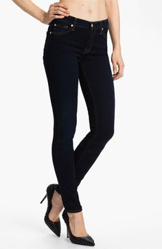 7 For All Mankind® 'Roxanne' Skinny Stretch Jeans (Illustrious Blue) | Nordstrom $198 gimme gimme gimme!!!