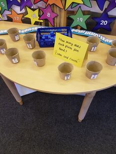 Counting out the correct value for each pot.