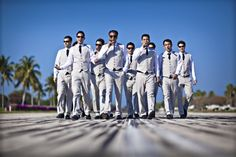 Great grooms party picture. They look like they should be walking away from an explosion