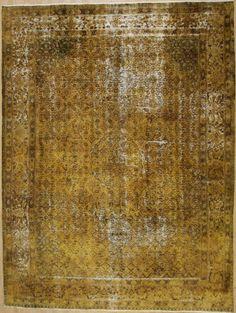 Wunderschöner Perser Teppich Vintage Handgeknüpfte alfombra 394 x 295 Patchwork