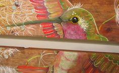 Detalhe do beija-flor