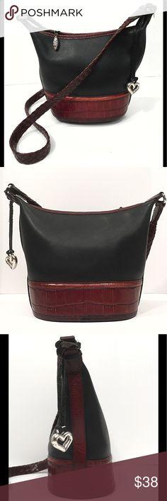 2606dd0f46c I just added this listing on Poshmark  Vintage Brighton Leather Bucket Bag  Black Brown.
