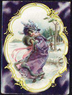1890 Trade Card; artist, Francis Brundage