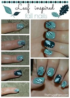 Save money and do it yourself with these cute purple spring nails fall nail art design inspired by the leaves before they start to change colors diy solutioingenieria Images
