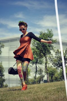 Aminta´s Fashion - Tattoos...   Tights from daddyz.com   Shoes from @oasap