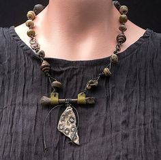Diamonds in the Rough a necklace by WillowStudioJewelry on Etsy, $165.00