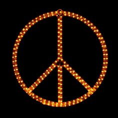 Catherine Peace Sign Symbol Holiday Lighting Display Wall Decor Indoor Outdoor Decoration