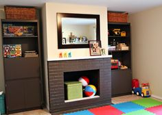 Organize the playroom and take a look at these easy tips to organize your toys.